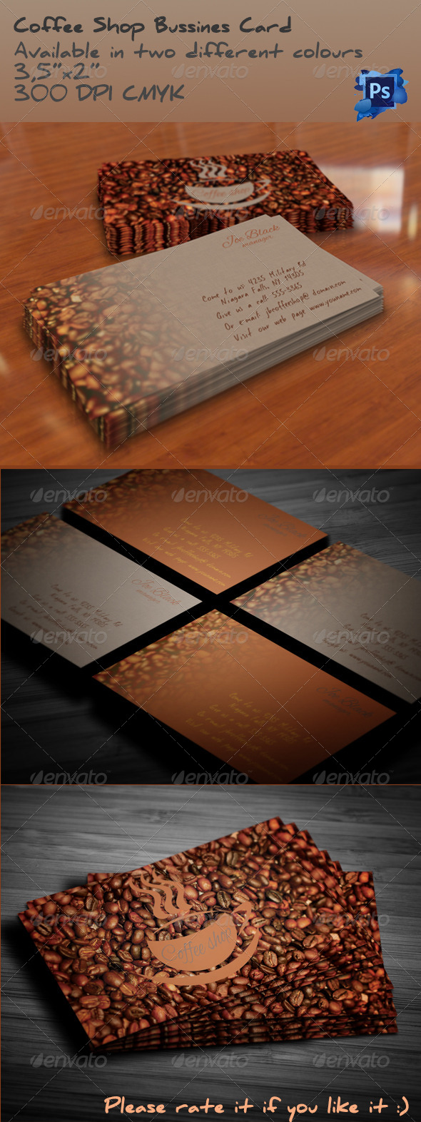 GraphicRiver Coffee Shop Bussines Card 5202269