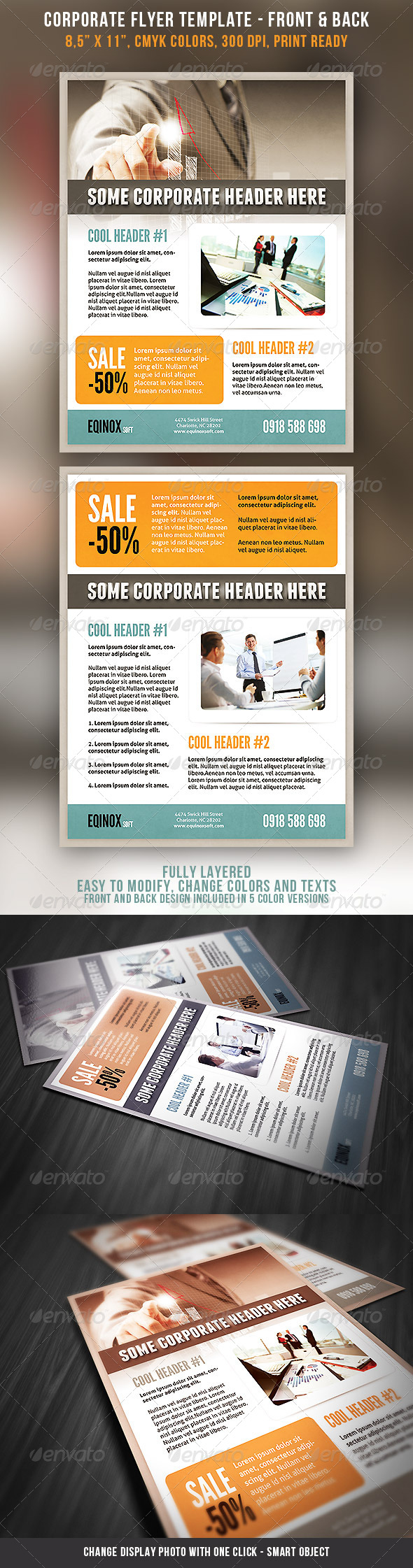 GraphicRiver Corporate Flyer Template 5255296