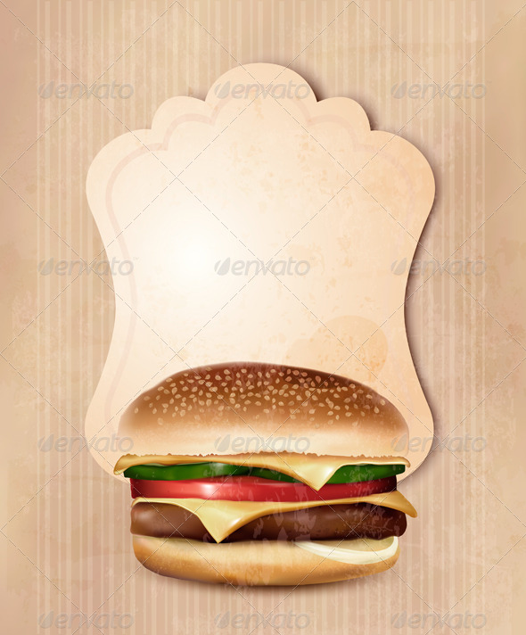 GraphicRiver Retro Fast Food Menu for Burger