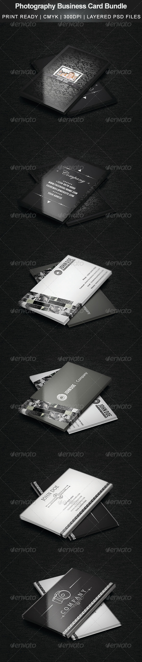 GraphicRiver Photography Business Card Bundle 5256568