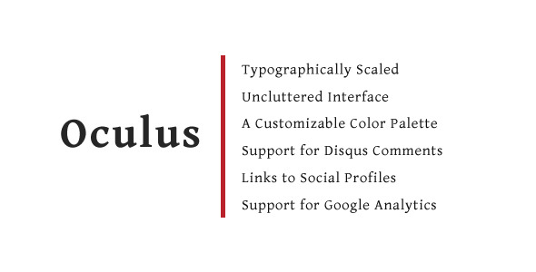 Oculus - A Tumblr Blog Theme