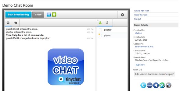 CodeCanyon Video Chat Module For phpFox 5247198