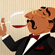 Wine Taster. Connoisseur of the Red Wine. - GraphicRiver Item for Sale