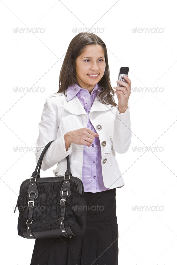 Checking the Mobile Phone - Stock Photo - Images