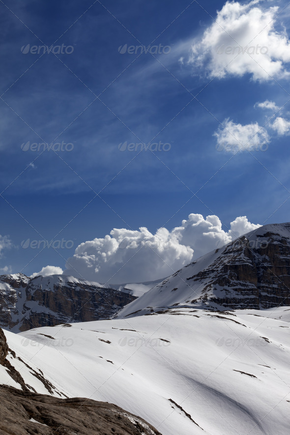 Mountains in sunny day - Stock Photo - Images