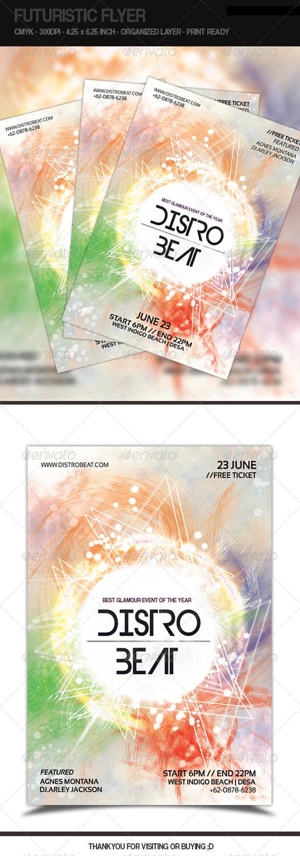 GraphicRiver Futuristic Flyer Distro Beat 5163986