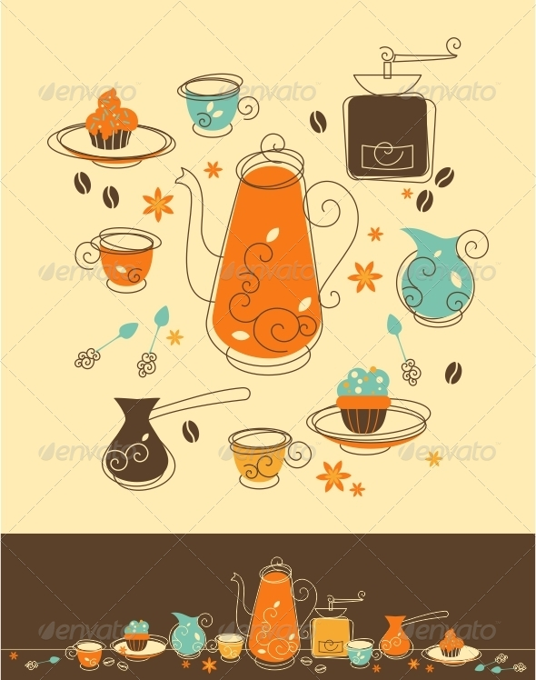 GraphicRiver Coffee Set 5216853