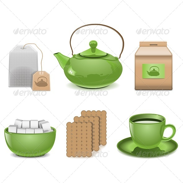 GraphicRiver Vector Tea Icons 5257960