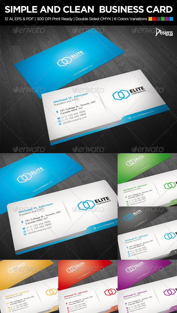 Simple and Clean Business Card 1 - Business Cards Print Templates