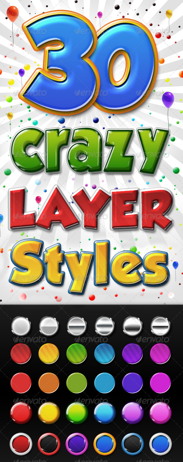 Big Pack of Colourful 3D Layer Styles  - Photoshop Add-ons