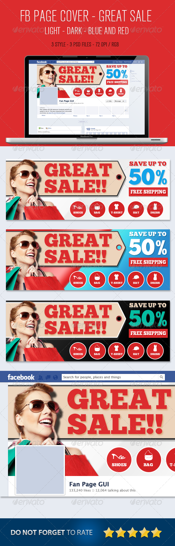 GraphicRiver Fb Cover E-Commerse Great Sale 5233594