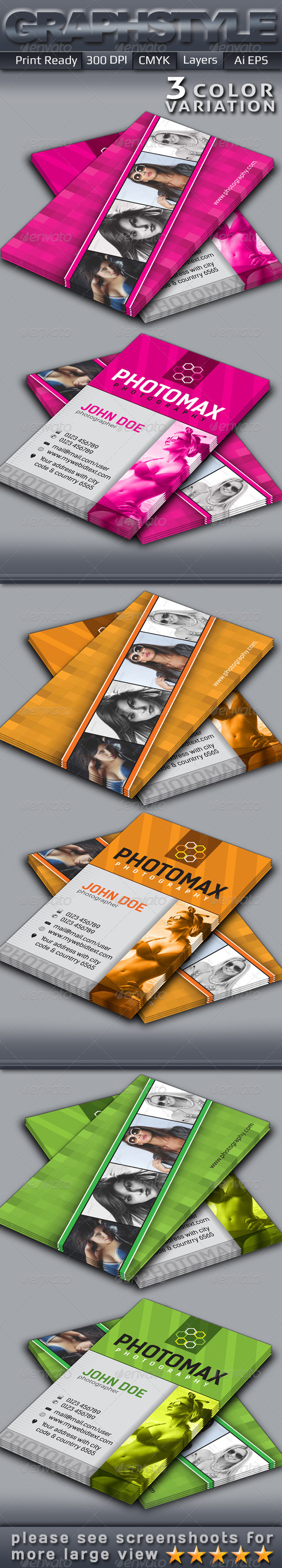 GraphicRiver Photomax Photography Business Card 5258334