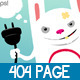 rabbits 404 page error - GraphicRiver Item for Sale