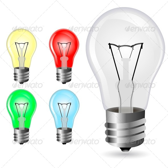 GraphicRiver Colour Lightbulbs 5261716