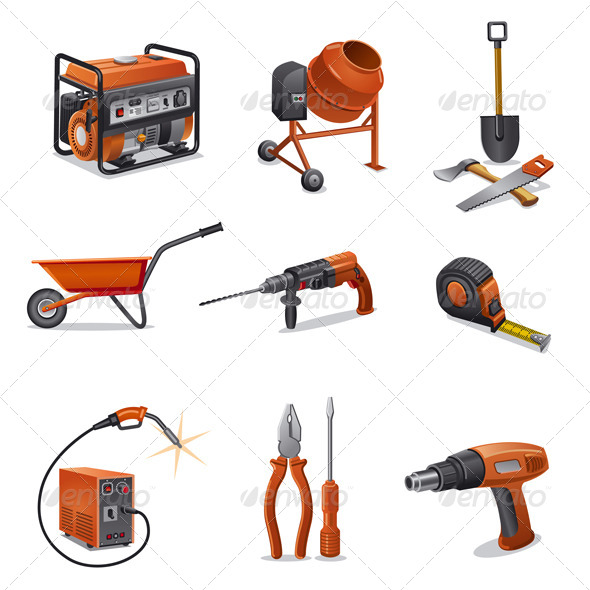 GraphicRiver Construction Tools Icon Set 5261877