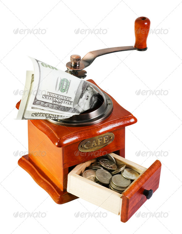 MONETARY GRINDER - Stock Photo - Images