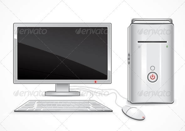 GraphicRiver White Computer 5263901