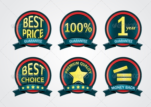 GraphicRiver Blue Promotional Labels 5263945