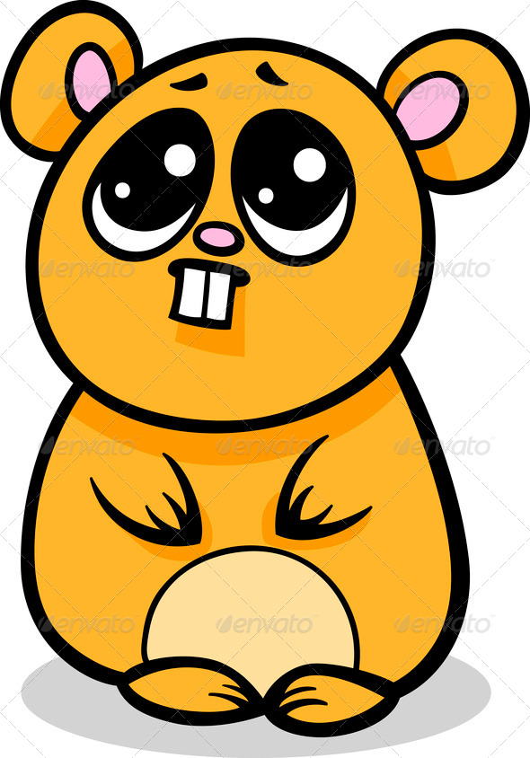 cartoon kawaii hamster illustration stock photo by