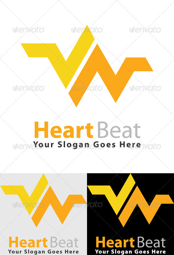 Heart Beat Logo - Logo Templates