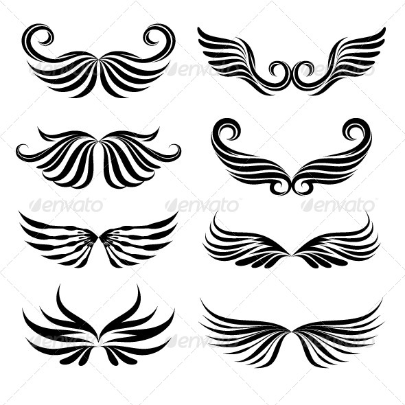 GraphicRiver Wings Tattoo Collections 5265718