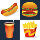 Fast Food Vector Icons - GraphicRiver Item for Sale