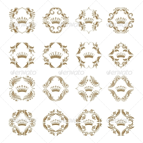 GraphicRiver Victorian Crown and Decorative Elements 5266898