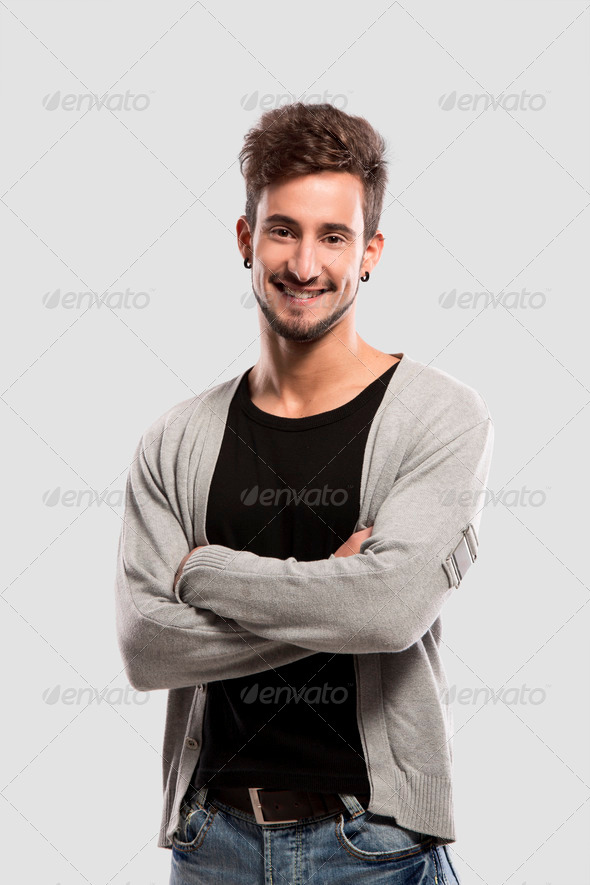 Friendly young man - Stock Photo - Images