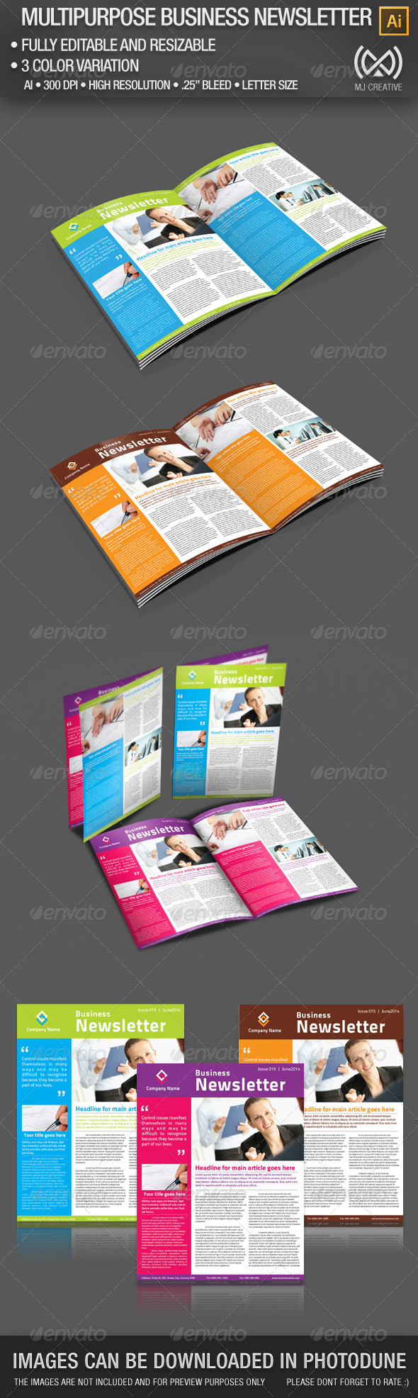 GraphicRiver 2 Pages Multi-purpose Business Newsletter 5001078