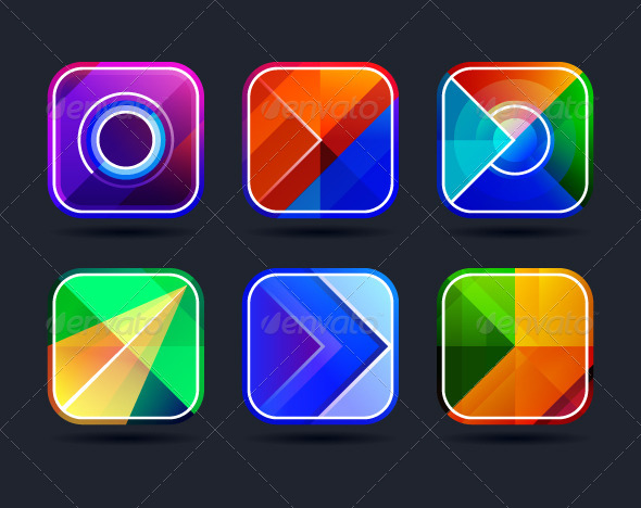 GraphicRiver Abstract App Icons Frames 5269325