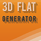 3D Flat Generator - GraphicRiver Item for Sale