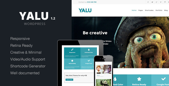 Yalu - Creative Multipurpose Template - Wordpress - Creative WordPress