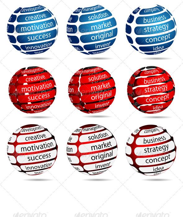 GraphicRiver Set Business Ball 5270360