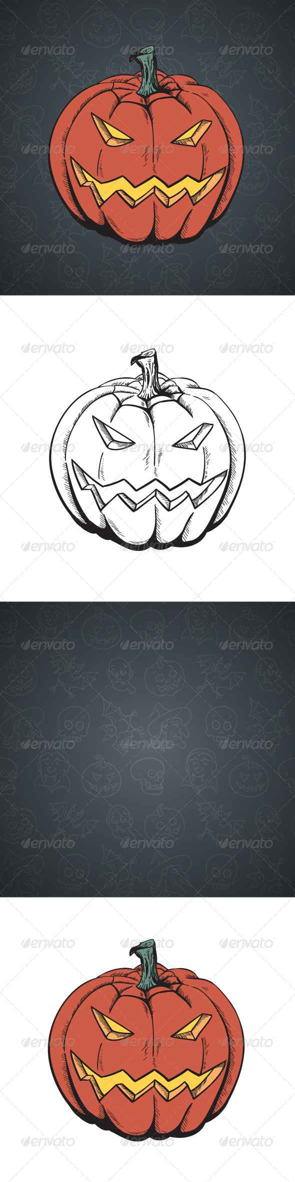 GraphicRiver Cartoon Halloween Pumpkin 5270543