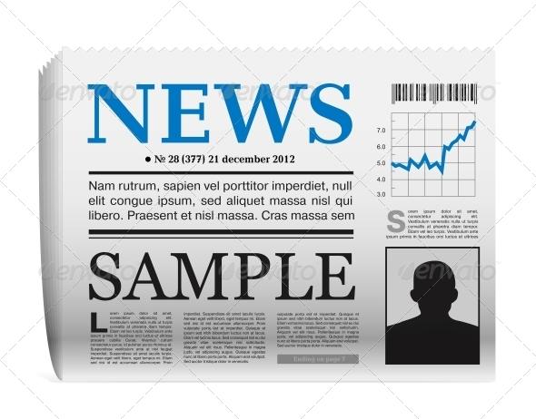 GraphicRiver Vector Newspaper Icon 5270661