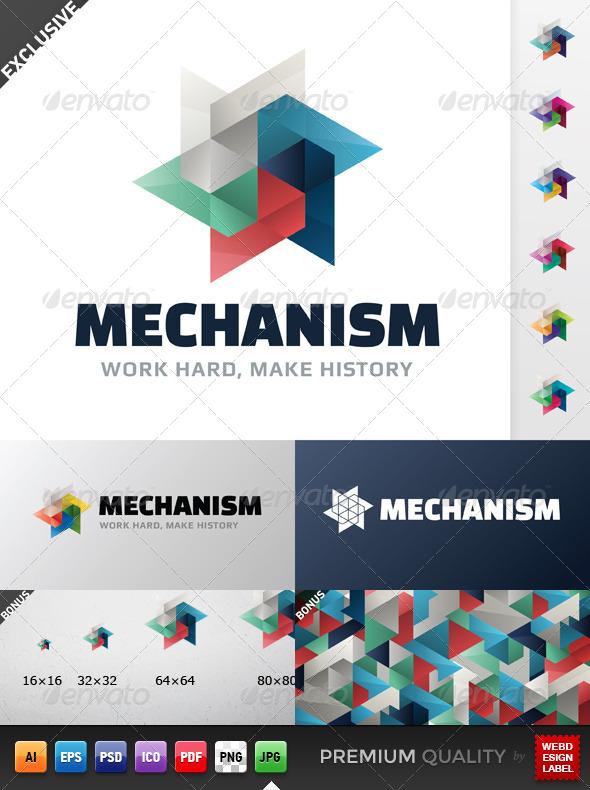 GraphicRiver Mechanism Logo 5271925