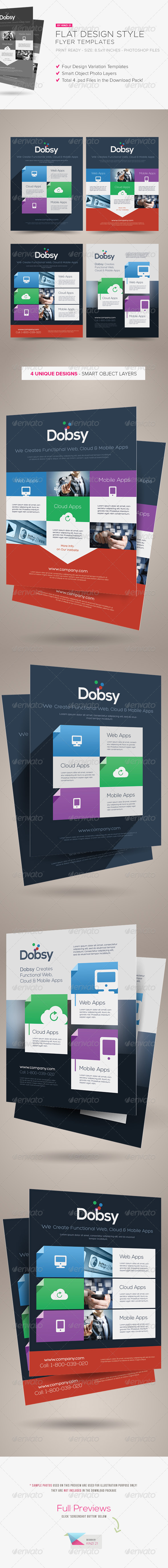GraphicRiver Flat Design Style Flyers 5271941