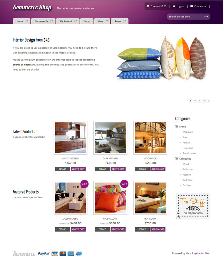 Sommerce Shop - A Versatile E-commerce Theme