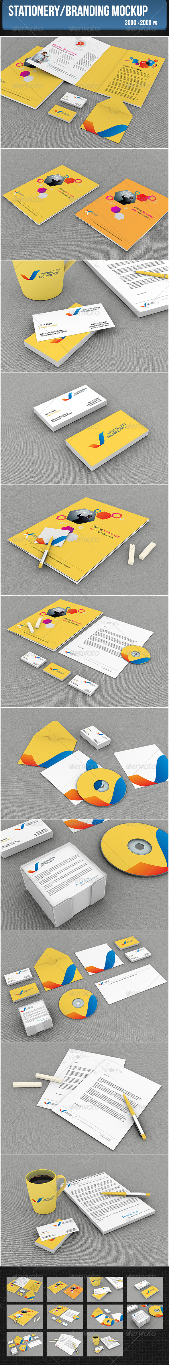 GraphicRiver Stationery Branding Mockup 5272681