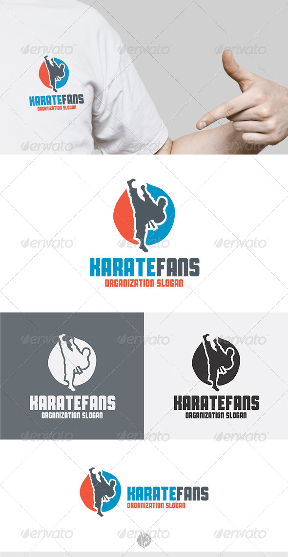 GraphicRiver Karate Fans Logo 5272845