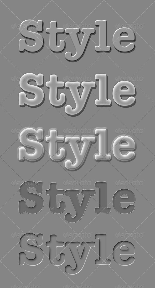 GraphicRiver Gray Styles 5255425