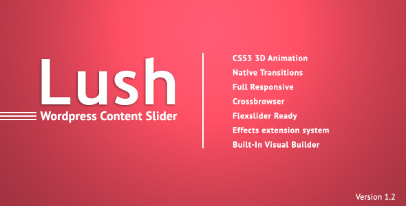 Lush - Content Slider for WordPress - CodeCanyon Item for Sale