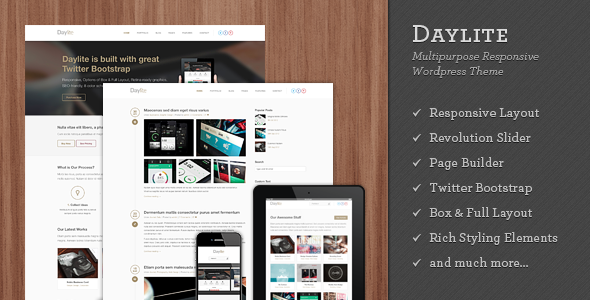 Daylite - Multipurpose Responsive WordPress Theme