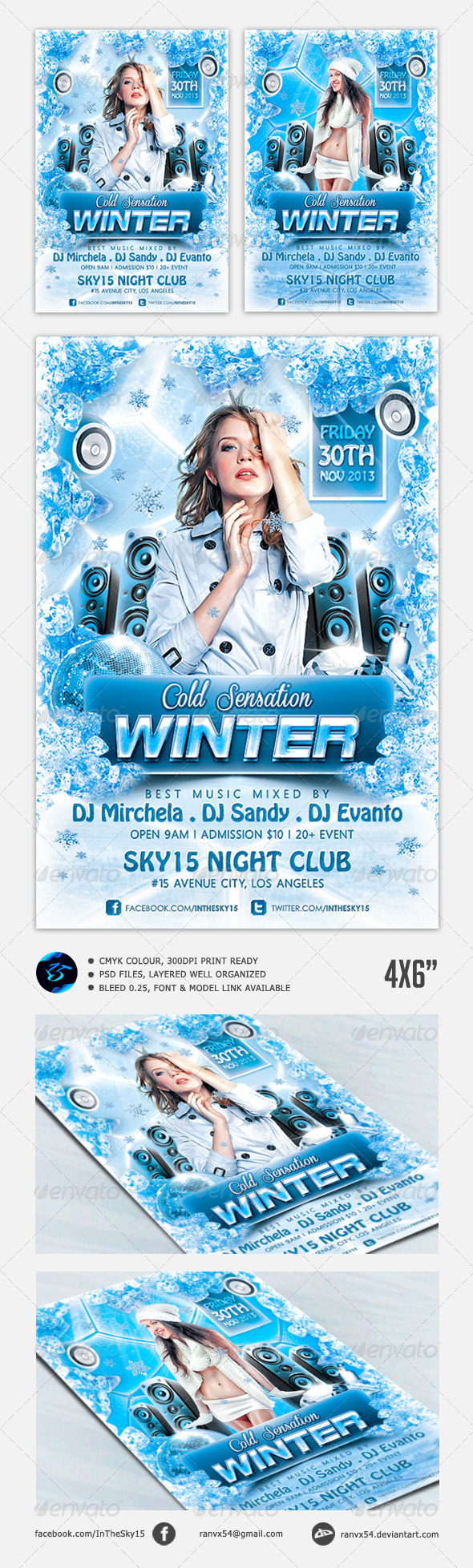 Winter Cold Sensation Flyer Template - Holidays Events