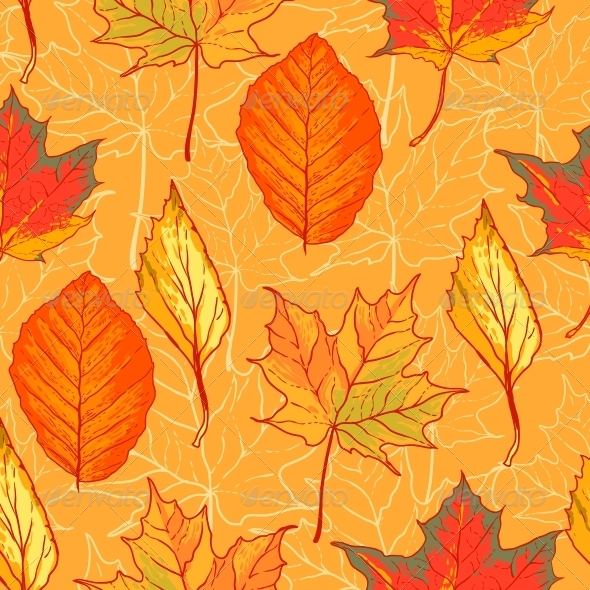 GraphicRiver Seamless Pattern with Leaves 5275337