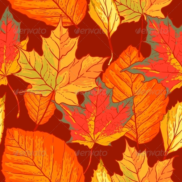 GraphicRiver Seamless Pattern with Leaves 5275339