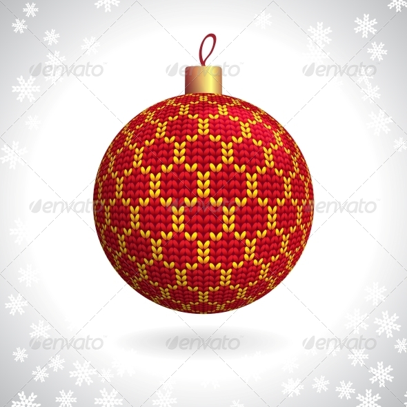 GraphicRiver Knitted Christmas Ball 5276423
