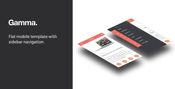 ThemeForest Gamma Mobile Retina HTML5 and CSS3 5268280