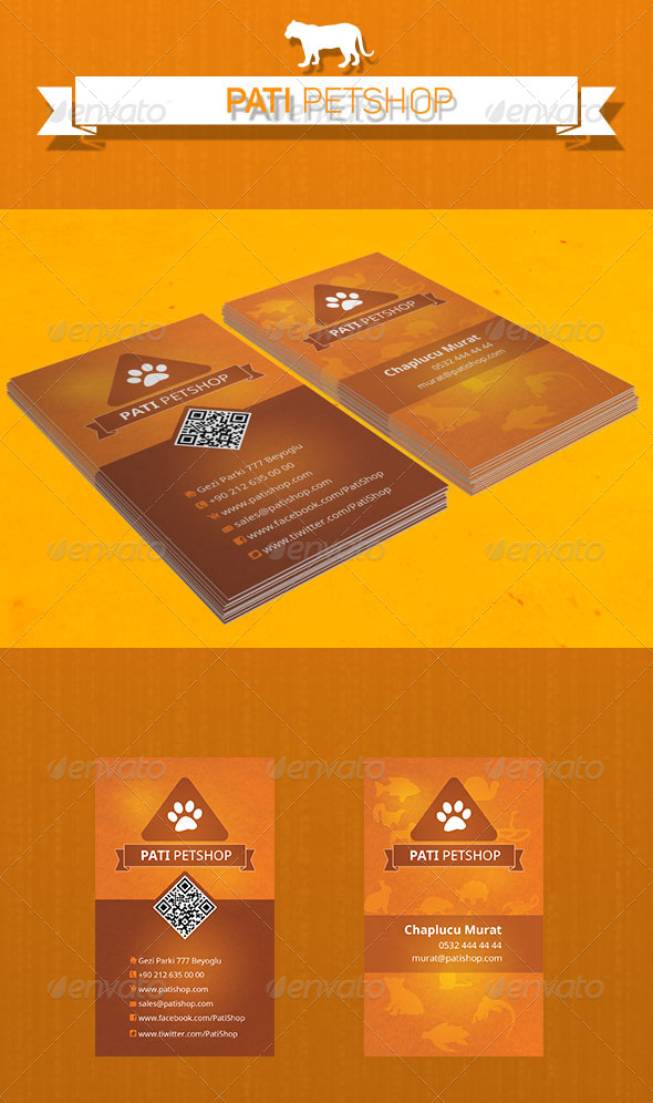 GraphicRiver Pati Petshop Card 5171273