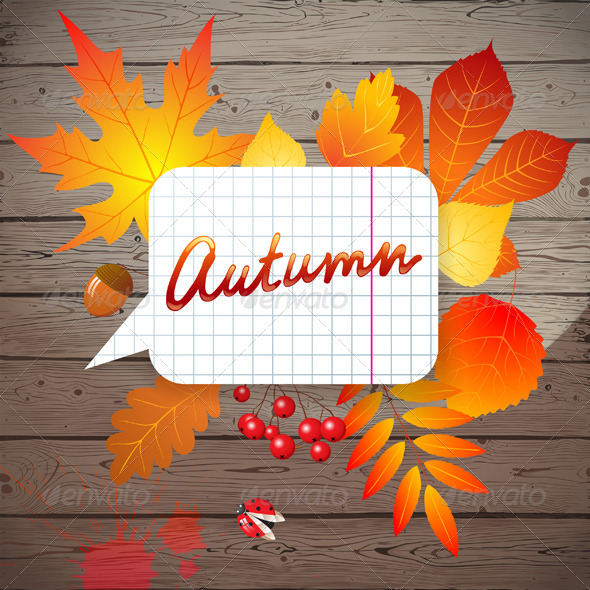 GraphicRiver Background with Autumn Leaves 5278225
